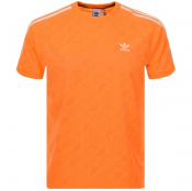 adidas Originals Mono Jersey T Shirt Orange